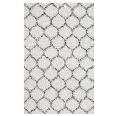 Eleftheria Moroccan Trellis Ivory/Gray Area Rug Rug Size: Rectangle 8 x 10