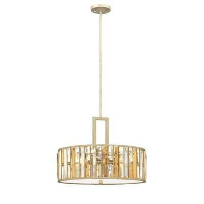 Gemma 3-Light Drum Pendant Finish: Silver