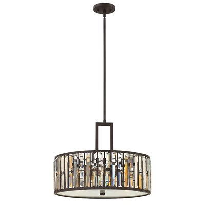 Gemma 3-Light Drum Pendant Finish: Bronze