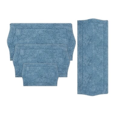Shera 4 Piece Bath Rug Set Color: Blue