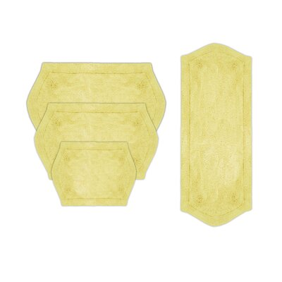Shera 4 Piece Bath Rug Set Color: Yellow