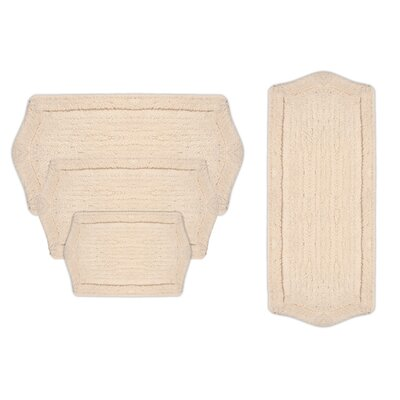Shera 4 Piece Bath Rug Set Color: Natural