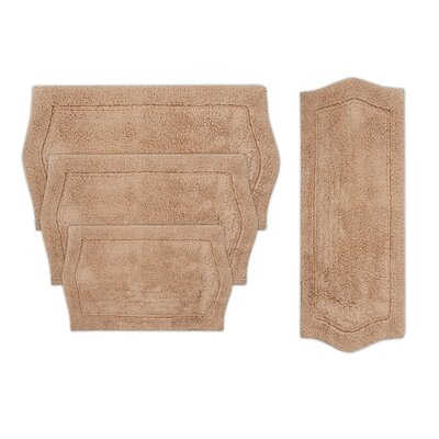 Shera 4 Piece Bath Rug Set Color: Linen