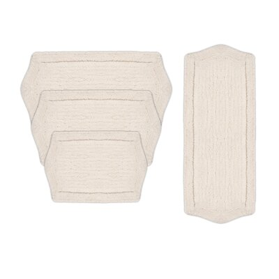 Shera 4 Piece Bath Rug Set Color: White
