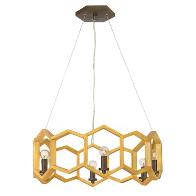 Moxie Single Tier 6-Light Geometric Pendant