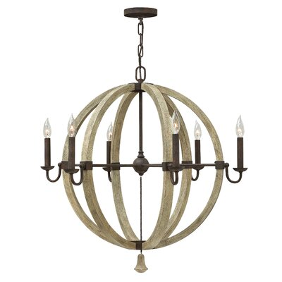 Middlefield Single Tier 6-Light Candle-Style Chandelier