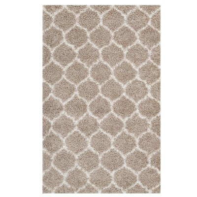 Eleftheria Moroccan Trellis Beige/Ivory Area Rug Rug Size: Rectangle 5 x 8