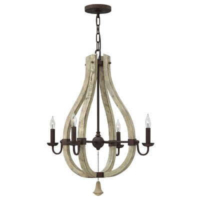 Middlefield Single Tier 4-Light Candle-Style Chandelier