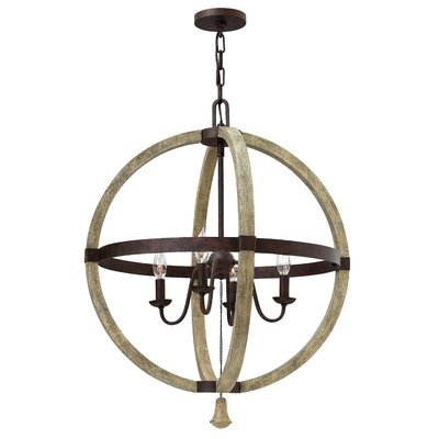 Middlefield Single Tier 4-Light Globe Pendant
