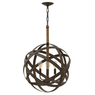 Carson Single Tier 3-Light Globe Pendant
