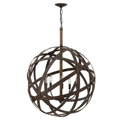 Carson Single Tier 5-Light Globe Pendant