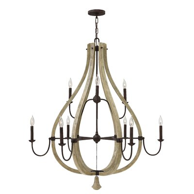 Middlefield Two Tier 9-Light Candle-Style Chandelier