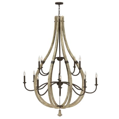 Middlefield Two Tier 12-Light Candle-Style Chandelier