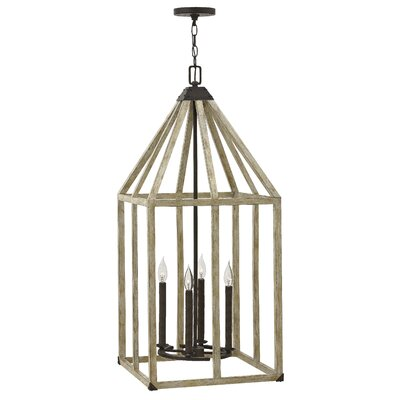 Emilie Single Tier 4-Light Lantern Pendant