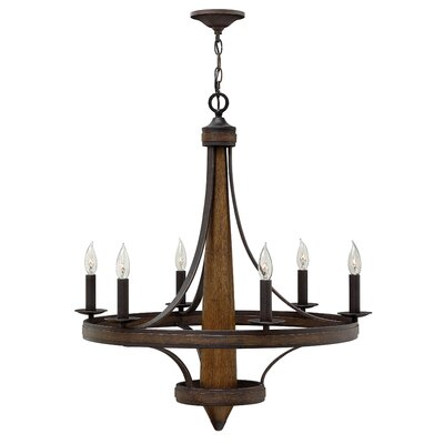 Bastille Single Tier 6-Light Candle-Style Chandelier