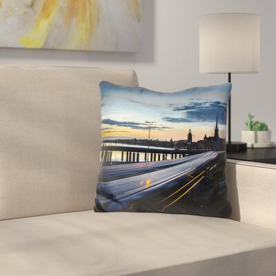 Troshkova Stockholm Night Slussen Throw Pillow