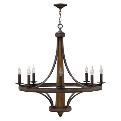 Bastille Single Tier 8-Light Candle-Style Chandelier