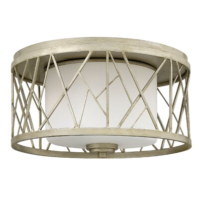 Nest 2-Light Flush Mount Fixture Finish: Silver Leaf