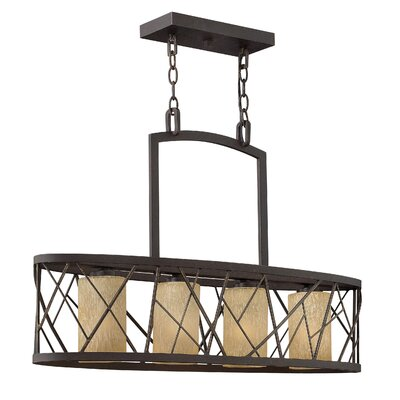 Nest Linear Downlight 4-Light Kitchen Island Pendant Finish: Oil Rubbed Bronze