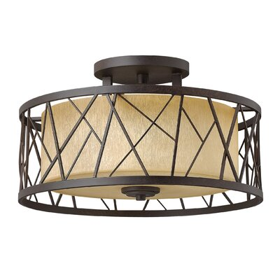 Nest 3-Light Semi Flush Mount Fixture Finish: Oil Rubbed Bronze