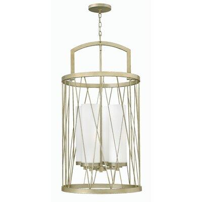 Nest Single Tier 4-Light Lantern Pendant Finish: Silver Leaf