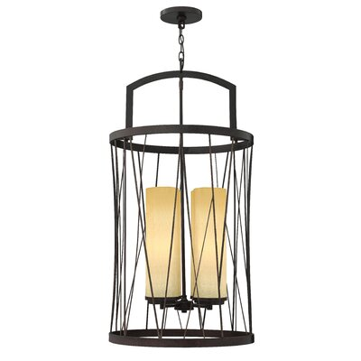 Nest Single Tier 4-Light Lantern Pendant Finish: Oil Rubbed Bronze