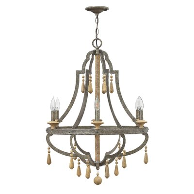 Cordoba Single Tier 6-Light Candle-Style Chandelier