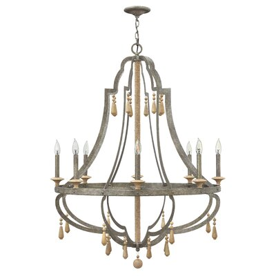 Cordoba Single Tier 8-Light Candle-Style Chandelier