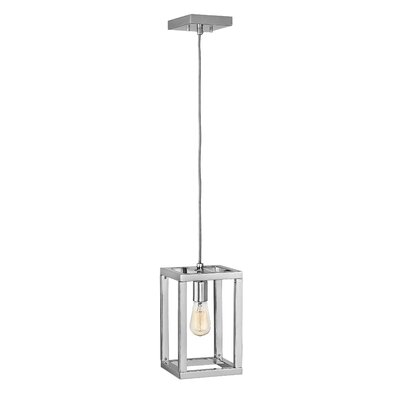 Ensemble 1-Light Foyer Pendant Finish: Polished Nickel