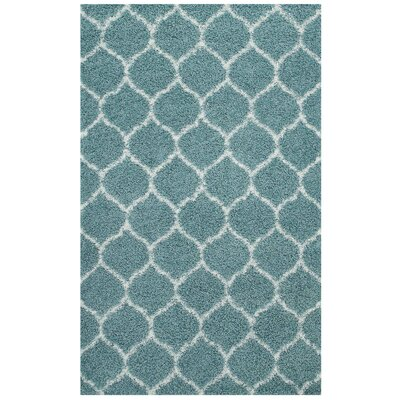 Eleftheria Moroccan Trellis Blue/Ivory Area Rug Rug Size: Rectangle 5 x 8