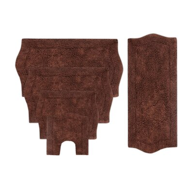 Shera 5 Piece Bath Rug Set Color: Linen