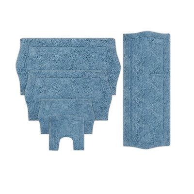 Shera 5 Piece Bath Rug Set Color: Blue