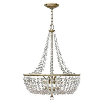 Caspia 4-Light Crystal Pendant