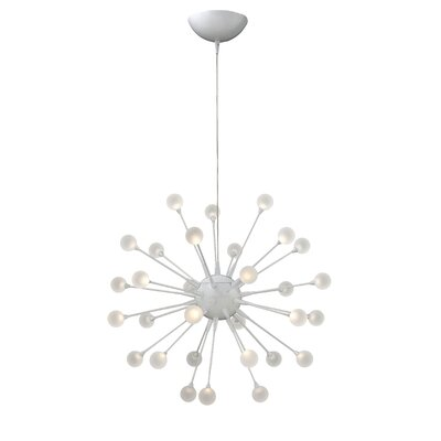 Impulse 30-Light Sputnik Chandelier Finish: Cloud