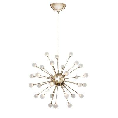 Impulse 30-Light Sputnik Chandelier Finish: Polished Gold