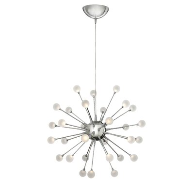 Impulse 30-Light Sputnik Chandelier Finish: Polished Chrome