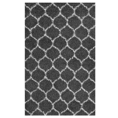 Eleftheria Moroccan Trellis Black/Ivory Area Rug Rug Size: Rectangle 5 x 8