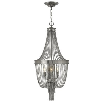 Regis Single Tier 3-Light Empire Chandelier