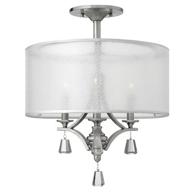 Mime 3-Light Drum Pendant Finish: Nickel