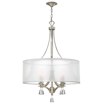 Mime Single Tier 4-Light Drum Pendant Finish: Brushed Nickel