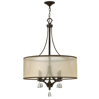Mime Single Tier 4-Light Drum Pendant Finish: French Bronze