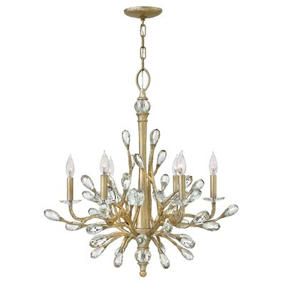 Eve Single Tier 6-Light Candle-Style Chandelier