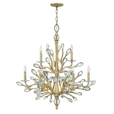 Eve Two Tier 9-Light Candle-Style Chandelier