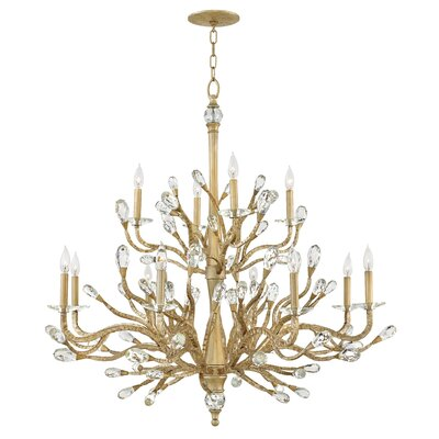 Eve Two Tier 12-Light Candle-Style Chandelier