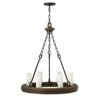 Cabot Single Tier 6-Light Candle-Style Chandelier Size: 25 H x 24 W x 24 D