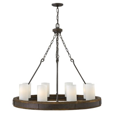 Cabot Single Tier 8-Light Candle-Style Chandelier