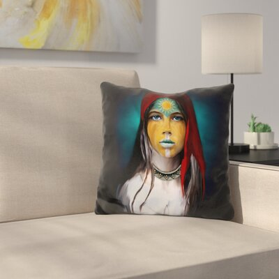Chalchiuhtlicue Throw Pillow