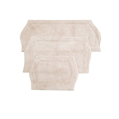 Shera 3 Piece Bath Rug Set Color: Natural