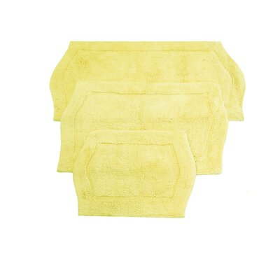 Shera 3 Piece Bath Rug Set Color: Yellow
