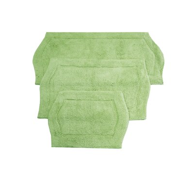 Shera 3 Piece Bath Rug Set Color: Sage
